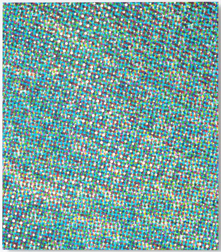 80 x 70 cm olieverf op inkjetprint op canvas op aluminium