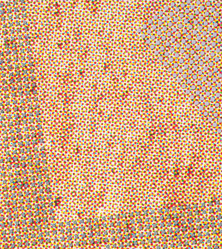 28 x 25 cm olieverf op inkjetprint op canvas op mdf