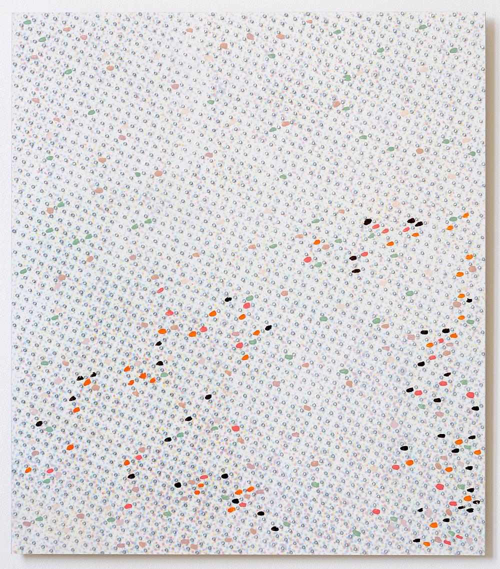 80 x 70 cm olieverf en inkjetprint op canvas op aluminium